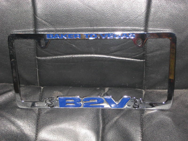 Los angeles police baker to vegas license plate frame ebay for Ebay motors las vegas