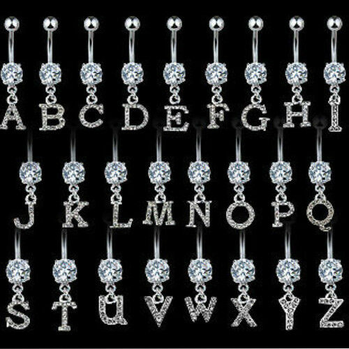 S Alphabet In Heart Initial Pave Clear Gem...
