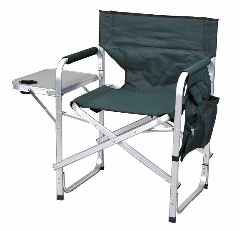 Camping Folding Sport Director Chair W Table 1204green Ebay