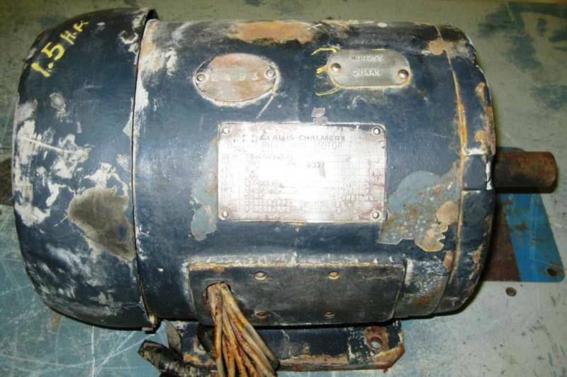 Allis chalmers induction motor 1 5 hp model 633 ebay for Allis chalmers electric motor
