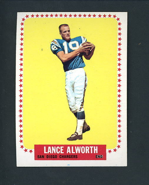 1964 Topps 155 Lance Alworth San Diego Chargers Ebay