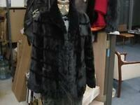 SHEARED BLACK MINK CHINCHILLA JACKET REVERSIBLE NEW