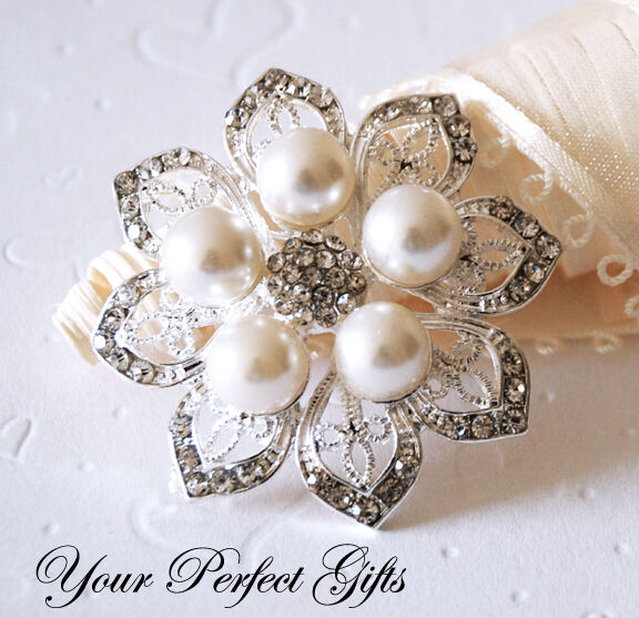 wedding cake brooches rhinestone pearl brooch wedding cake decoration ebay 22107
