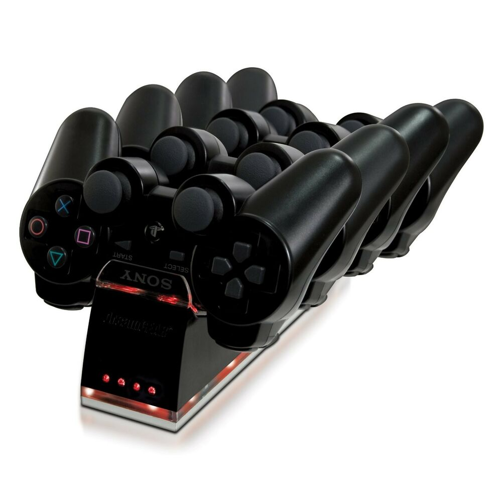 dreamGEAR PS3 Quad Dock DualShock Controllers Charger ...