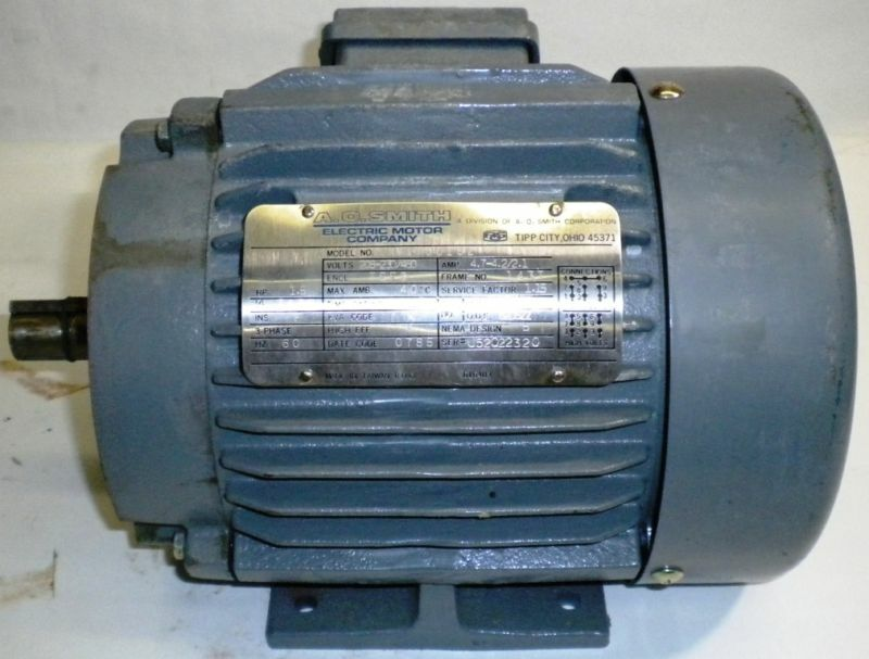A o smith electric motor model at00152 hp 1 5 ebay for 1 5 hp electric motor