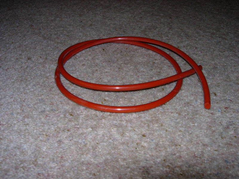 rubber silicone cord o ring red 8mm x 1m ebay. Black Bedroom Furniture Sets. Home Design Ideas