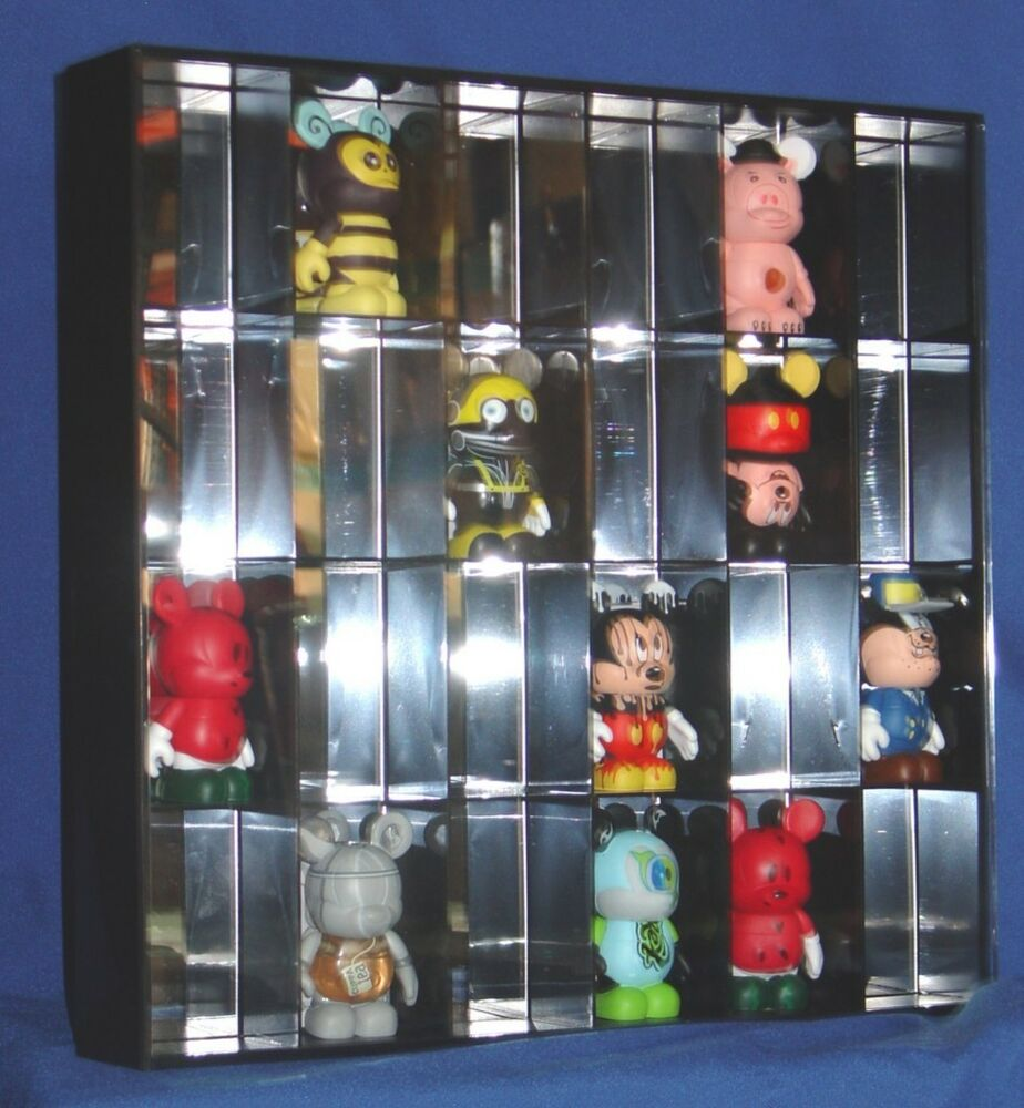 vinylmation chaser 24 slot shadow box display case new ebay. Black Bedroom Furniture Sets. Home Design Ideas