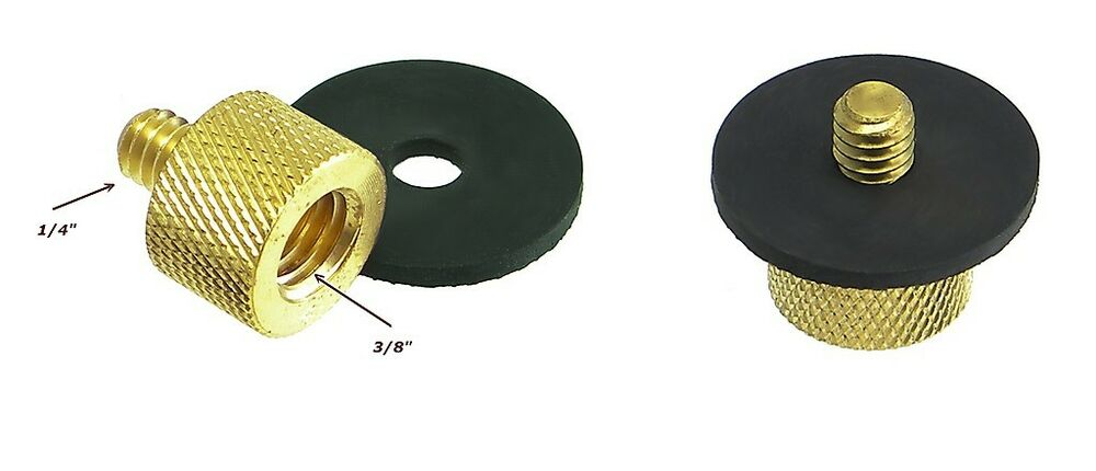 Two quot to tripod thread reducer adapter brass ebay