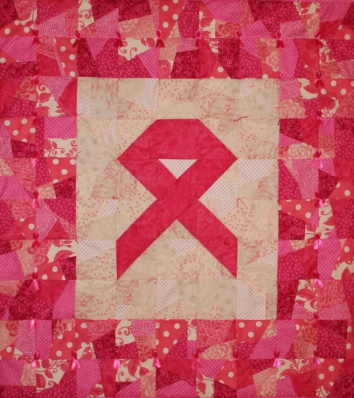 Pink Ribbon Wallhanging Quilt Kit Sew For Breast Cancer Ebay