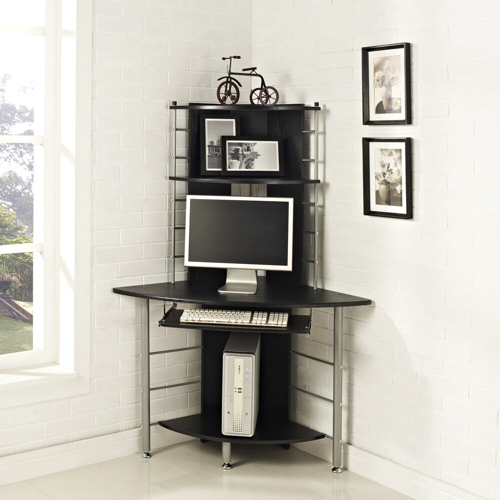 home office corner work station computer desk table pc. Black Bedroom Furniture Sets. Home Design Ideas