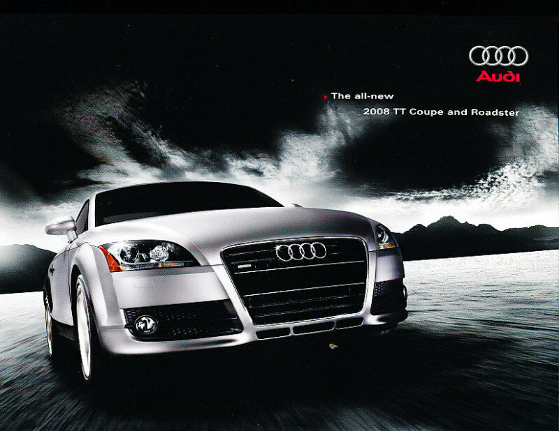 2008 audi tt coupe roadster 40 page deluxe sales brochure. Black Bedroom Furniture Sets. Home Design Ideas