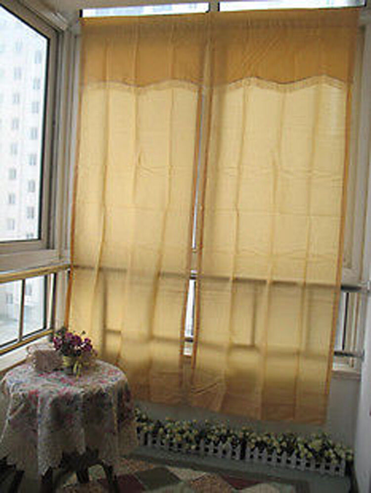 Details About 5 Pieces Country Style Window Set Sheer Curtain 152cm X 213cm 45cm