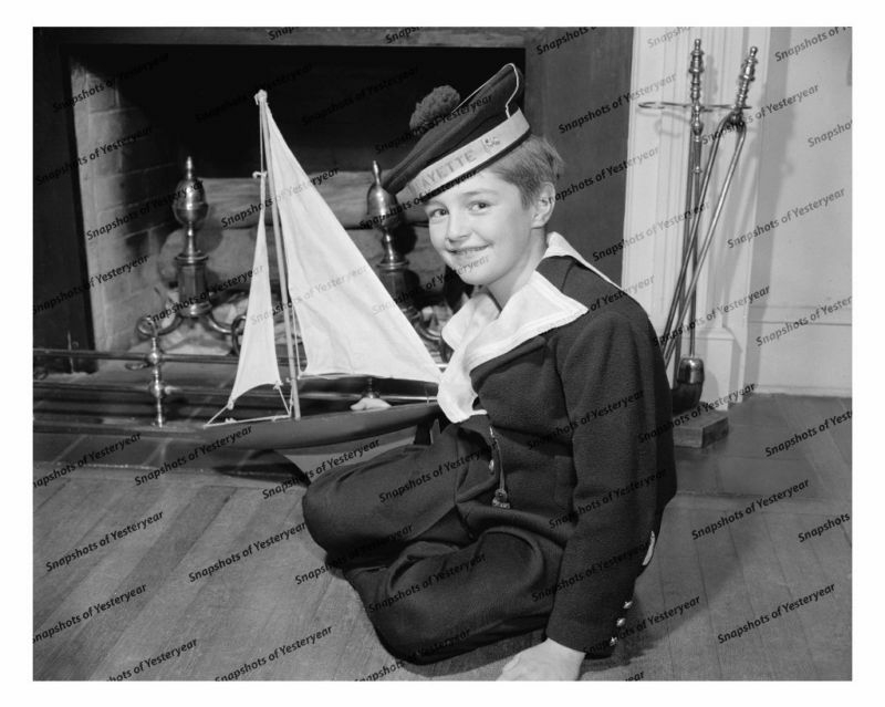 Lillle Boy Toys Boats : Vintage photo little boy with toy sail boat in ebay