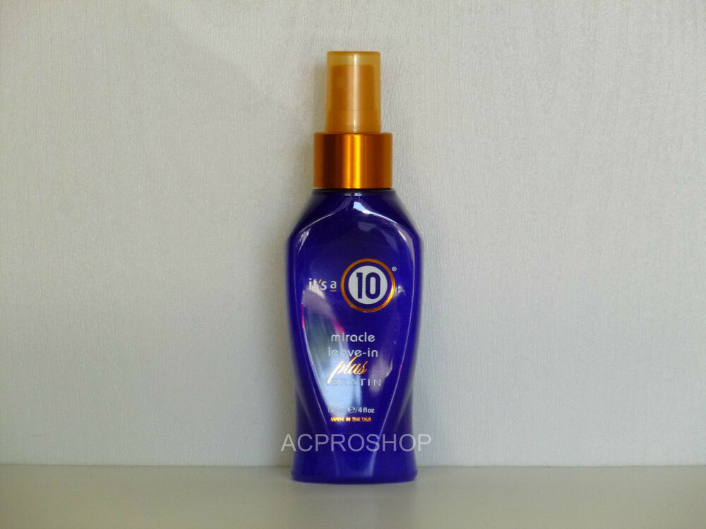 its a 10 miracle leave in conditioner plus keratin 4 oz ebay. Black Bedroom Furniture Sets. Home Design Ideas