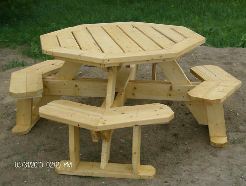 Octagon picnic table plans easy to do ebay - Folding picnic table plans free ...