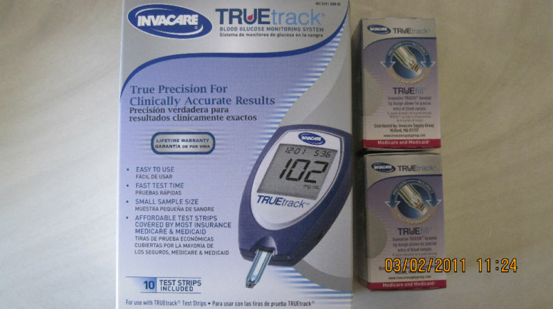 Truetrack blood glucose 50x2 test strips plus meter exp for Ecksofa 2 50x2 50