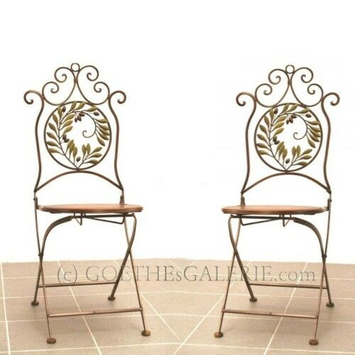 st hle 2 st ck stuhl shabby chic metall m bel golden ebay. Black Bedroom Furniture Sets. Home Design Ideas