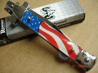 RIDGE RUNNER  AMERICAN  FLAG  STILETTO  KNIFE
