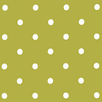 """COTTON MID WT FABRIC FOR UPHOLSTERY CURTAIN TABLE LINEN CUTE POLKA DOT GREEN 44"""""""