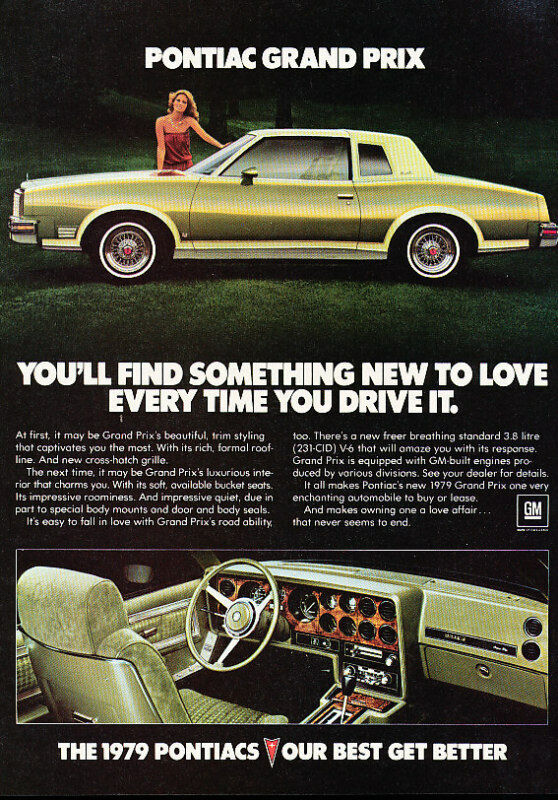 1979 pontiac grand prix gr vintage advertisement ad p57 ebay. Black Bedroom Furniture Sets. Home Design Ideas