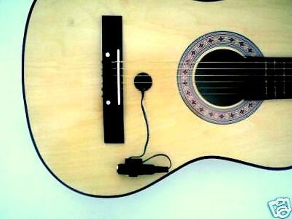 piezo contact microphone mic pickup guitar violin banjo ebay. Black Bedroom Furniture Sets. Home Design Ideas