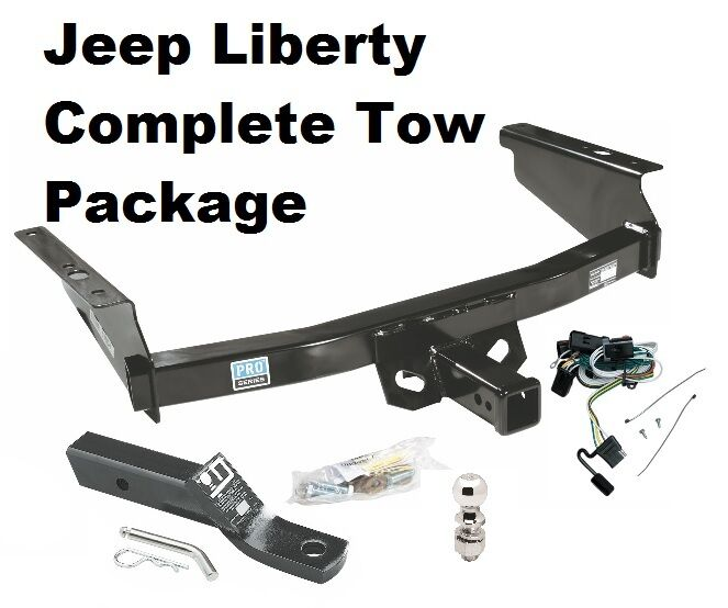 02 07 jeep liberty trailer hitch pkg w wiring and ball ebay. Black Bedroom Furniture Sets. Home Design Ideas