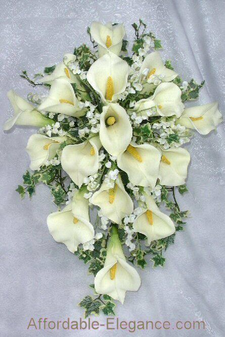 lily flower wedding bouquets ivory calla bridal bouquets wedding flowers set ebay 5548