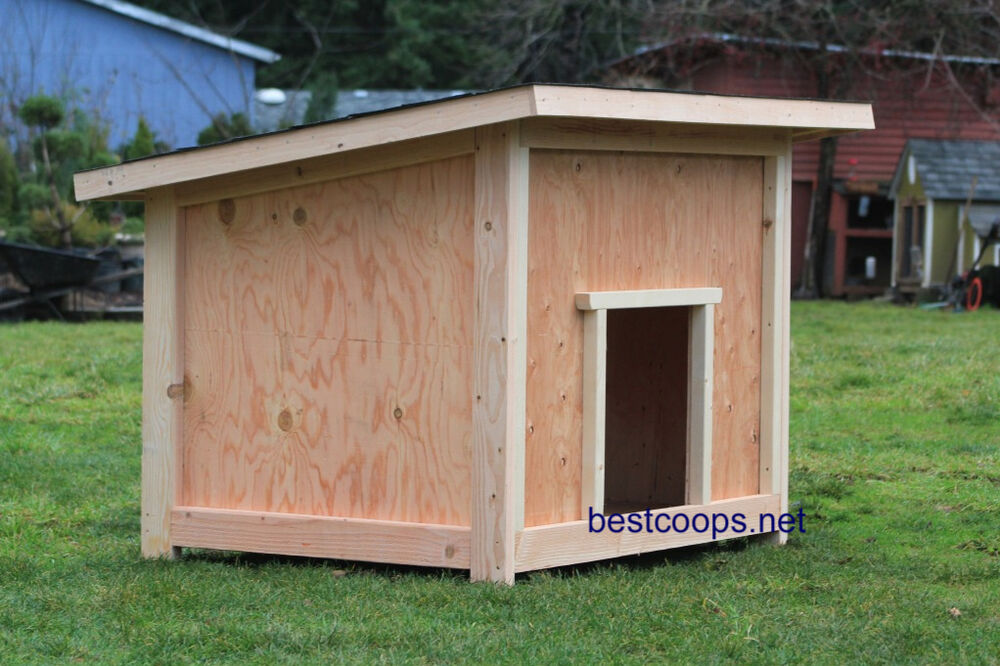 Large Dog House Plan 2 Ebay