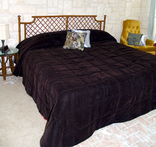Conventional Size Solid Velvet Bedspread All Sizes Ebay