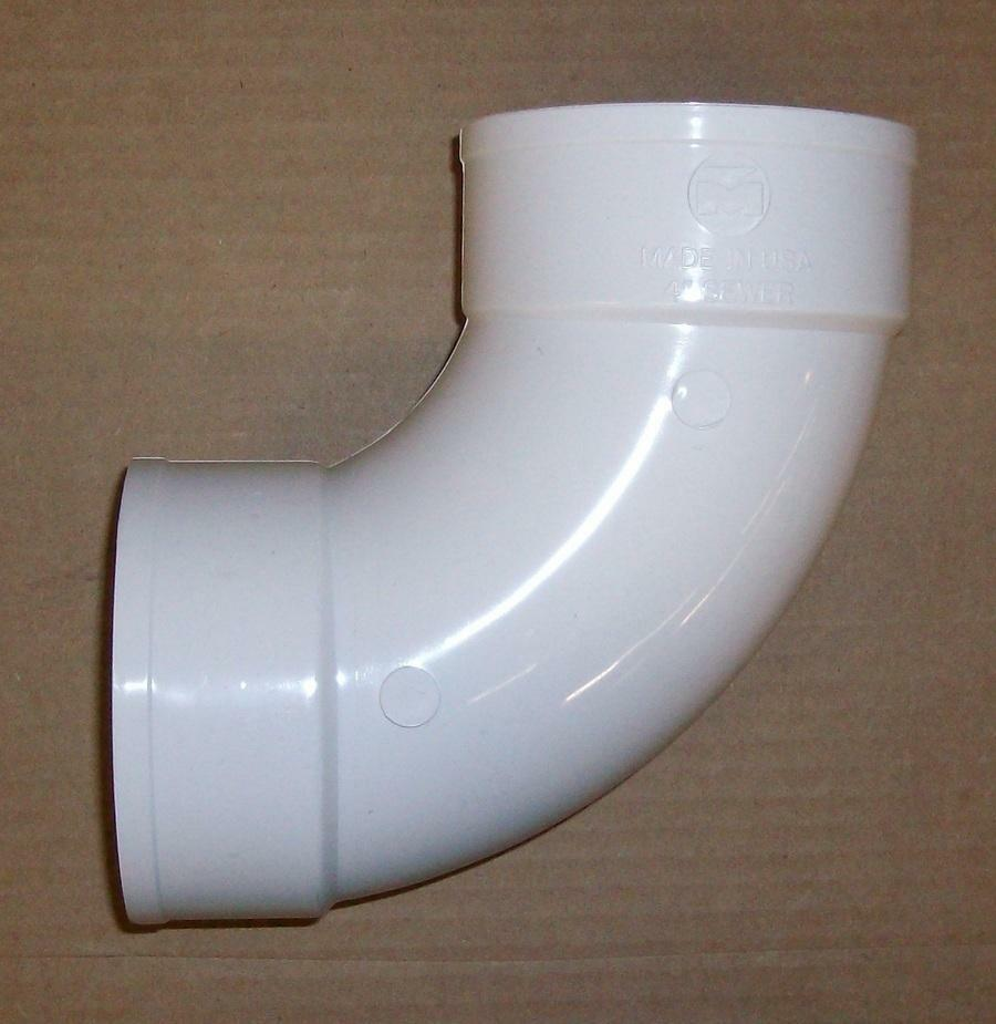 Pvc fittings quot long turn degree elbow ebay