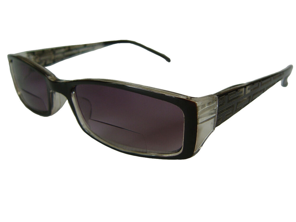 cfb97c9a4837 WOMENS DESIGNER   39 BIFOCAL  39  SUNGLASSES.PATTERNED ARMS !