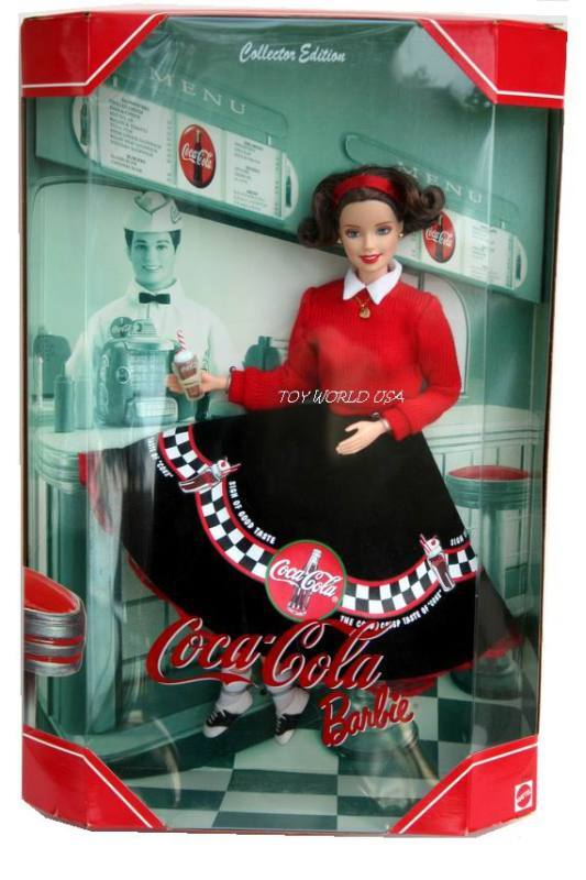 barbie coca cola collector edition 2nd in series doll ebay. Black Bedroom Furniture Sets. Home Design Ideas