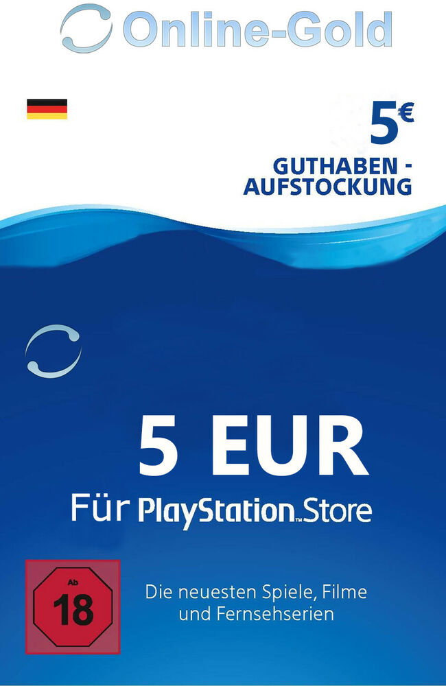psn network 5 euro code 5 eur playstation store guthaben ps3 ps4 ps vita de ebay. Black Bedroom Furniture Sets. Home Design Ideas