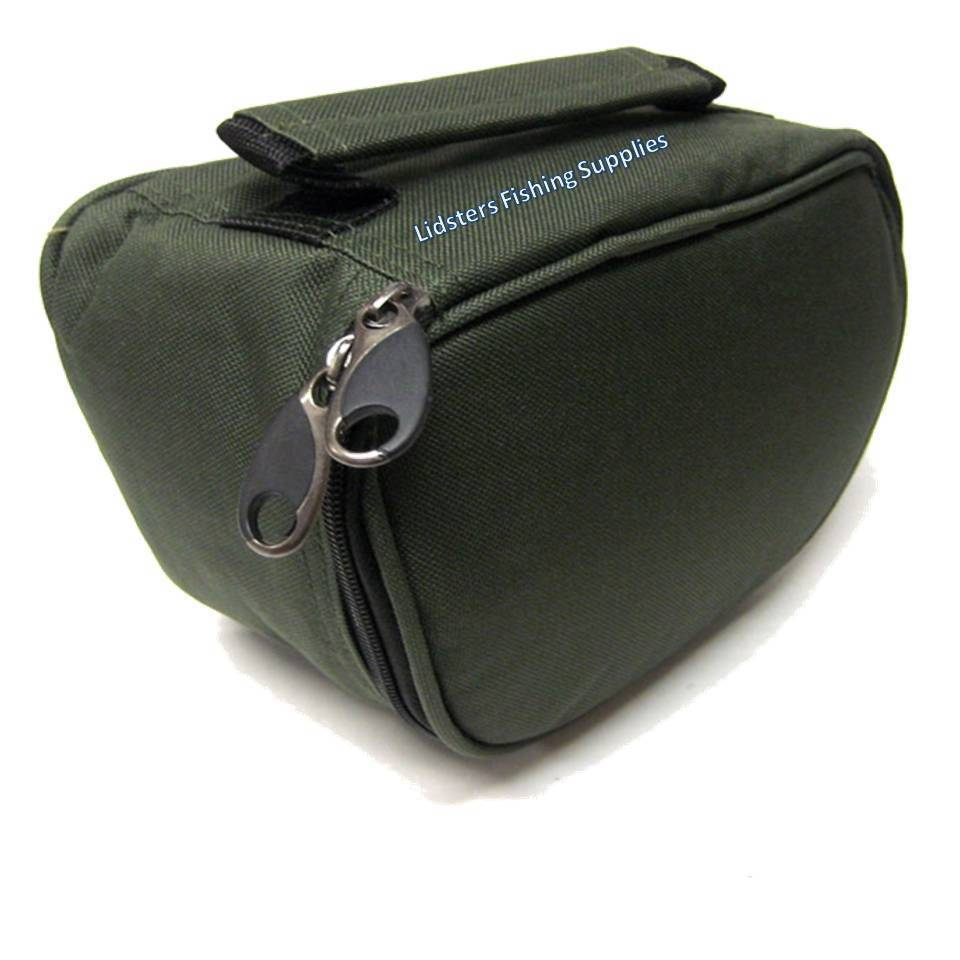 New Deluxe Green Reel Case Bag Carp Pike Fishing Tackle
