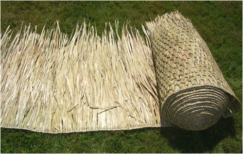 Sale 3 30 Quot X7 Comm Grade Palapa Palm Thatch Roll Ebay