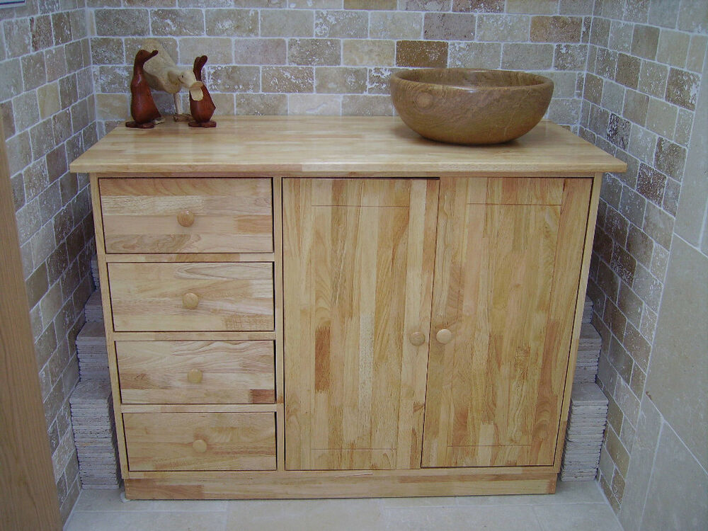 wooden bathroom sink cabinets promotion solid wood medium sink unit cabinet 29442