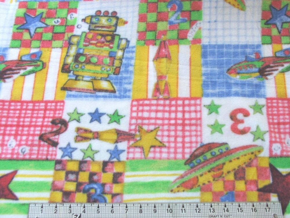 60x60 space toys great 1 spy kids fleece fabric ebay for Space fleece fabric
