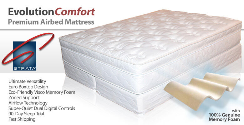 Strata evolution comfort memory foam air bed mattress ebay for Are memory foam mattresses comfortable