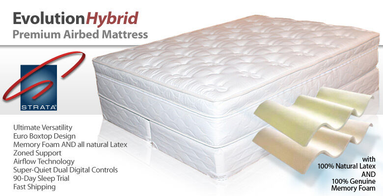 strata evolution support memory foam latex mattress ebay. Black Bedroom Furniture Sets. Home Design Ideas