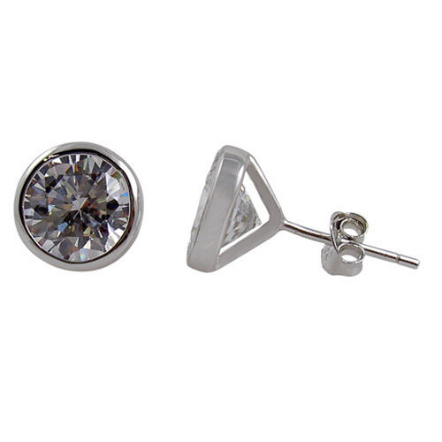 studded earrings for guys sterling silver large 8mm cz s stud earring one ebay 9101