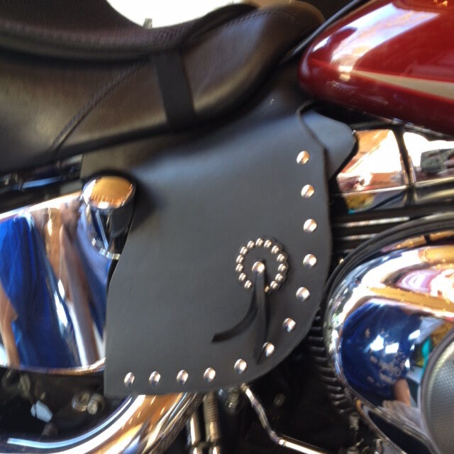 Harley Softail Saddle Heat Shield And Deflector Xl Extra