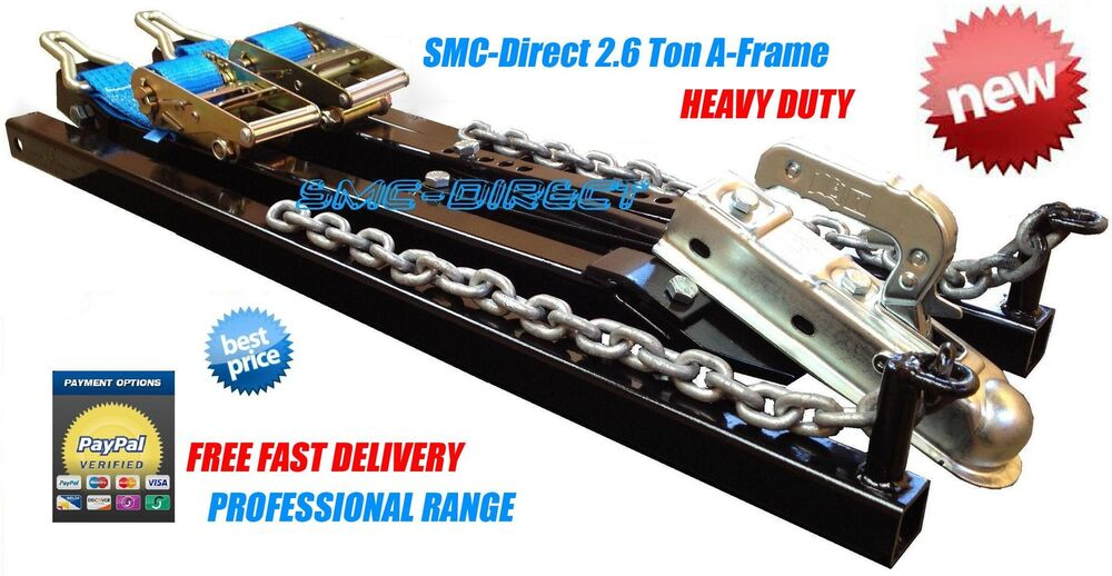 SMC Car Towing A Frame 2.6Ton Recovery Dolly Trailer Heavy Duty ...