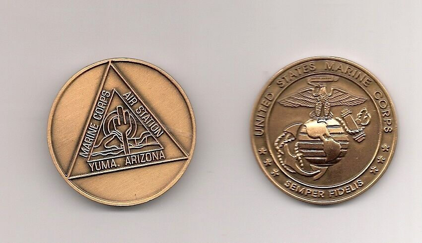 marine corps mcas yuma air base bronze challenge coin ebay. Black Bedroom Furniture Sets. Home Design Ideas