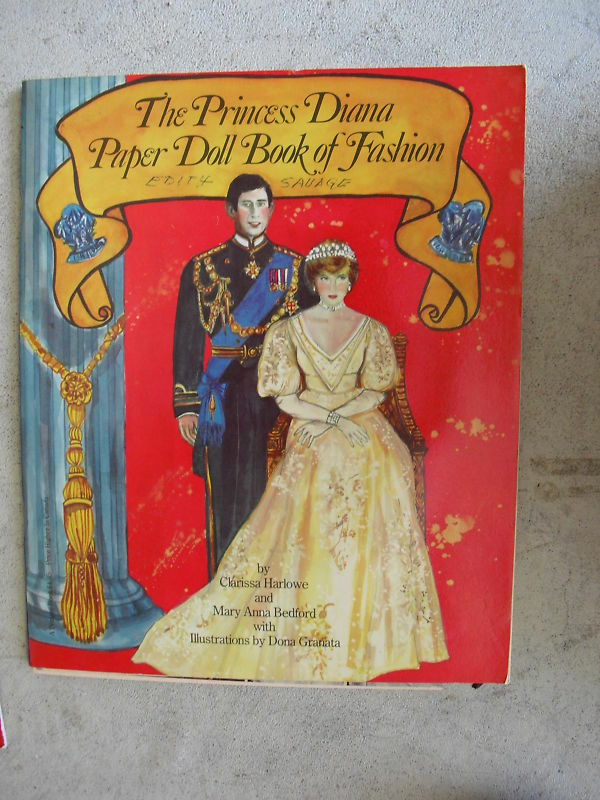 1982 Paper Dolls Book Princess Diana Book Of Fashion