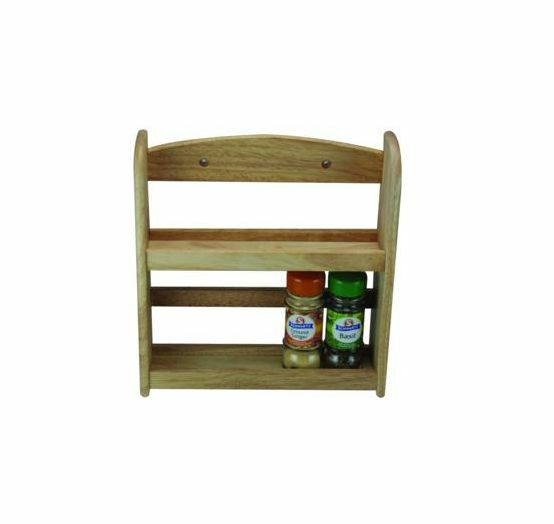 2 Tier Spice Herb Jar Rack Holder Stand Rack Wall Mounted