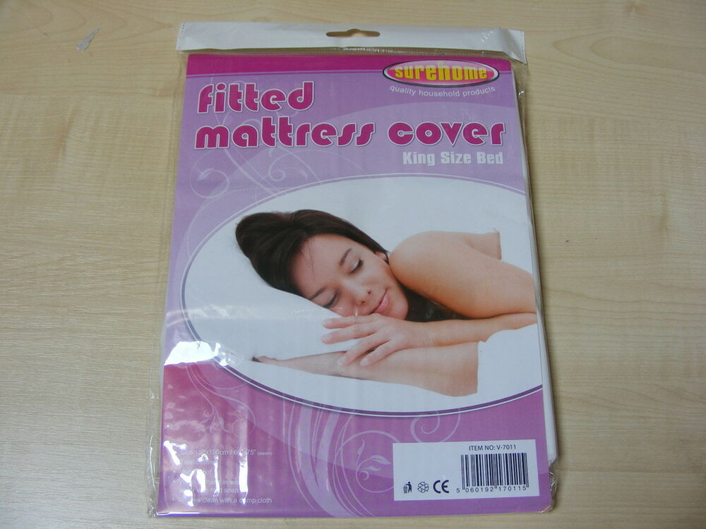 Plastic Mattress Cover For Bed Wetting KING SIZE PLASTIC FITTED MATTRESS COVER SHEET PROTECTOR | eBay