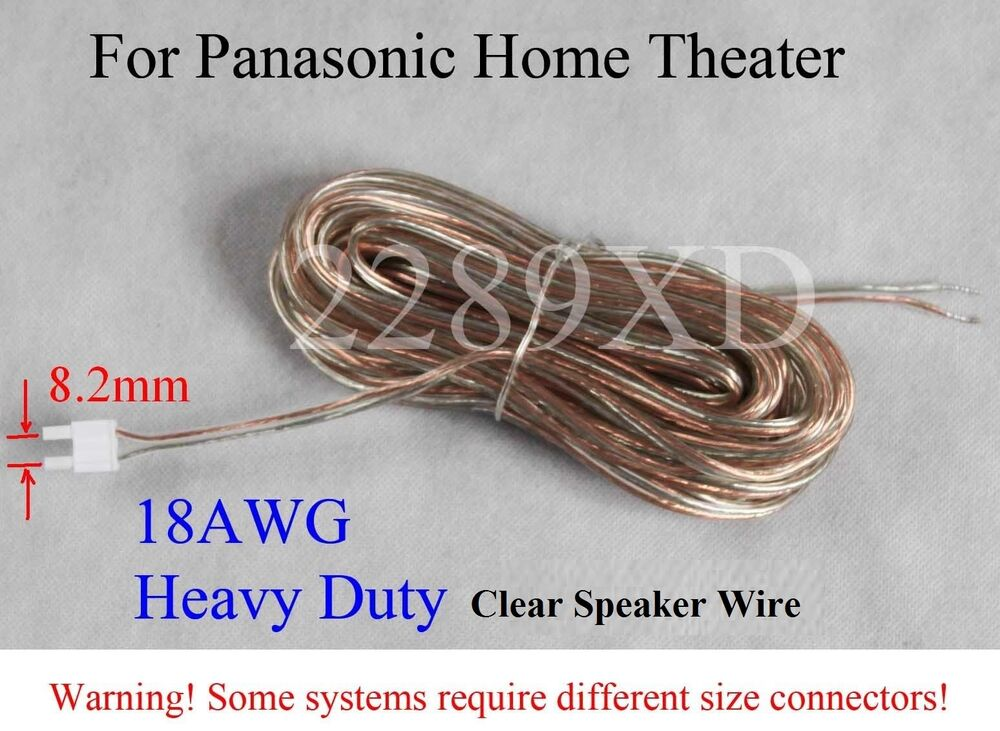 Home Theater Speaker Wire : Speaker cable wire ft mm made for old panasonic