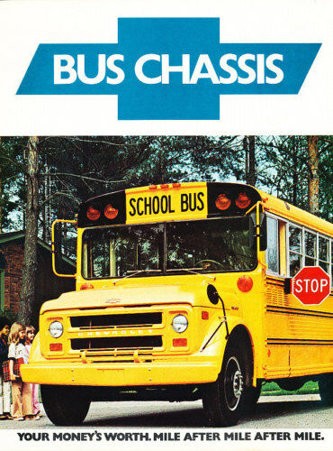 1976 Chevrolet School Bus Chassis Sales Brochure Chevy | eBay
