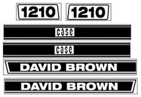 Case Tractor Decal Sets : Db case david brown tractor hood decal set ebay