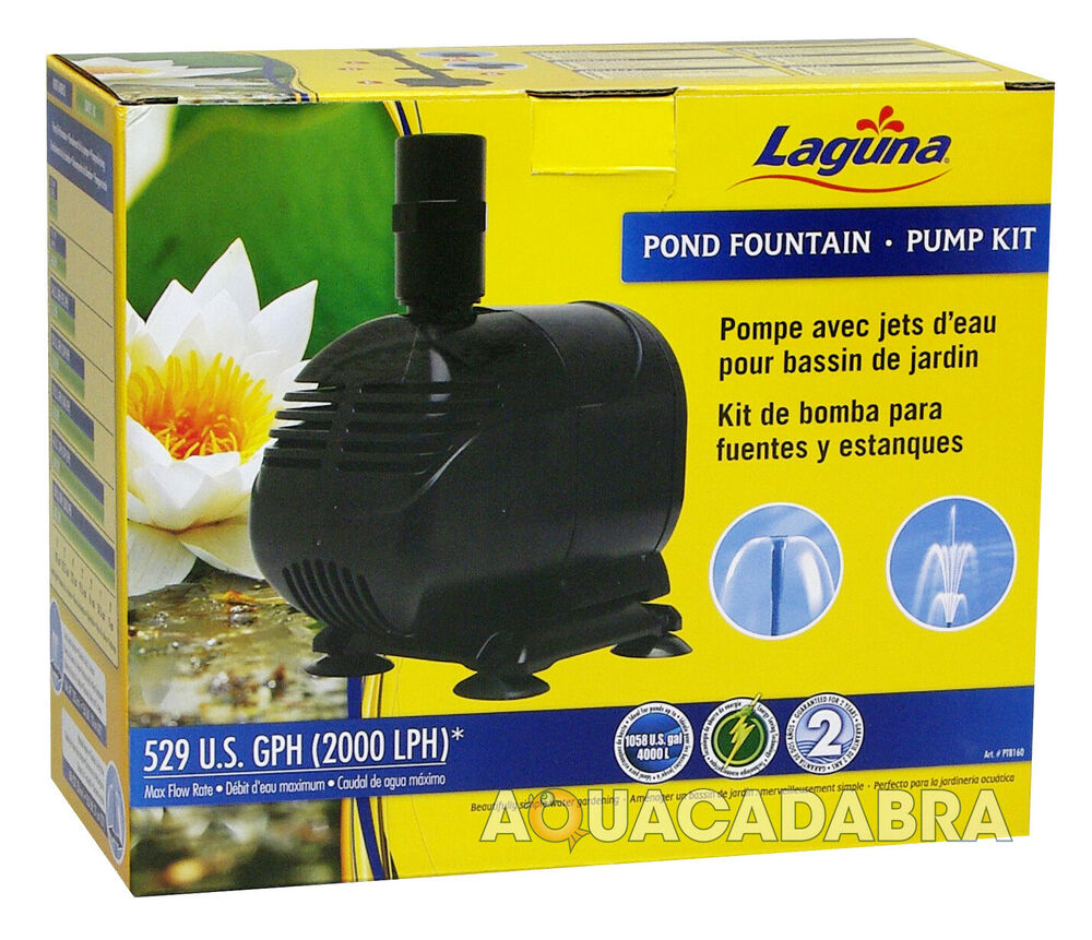 Laguna pond fountain pump kit 2000 lph garden goldfish for Goldfish pond pump